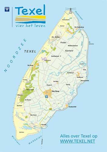 Karte Texel.Radknotensystem Texel Www Radurlaub De